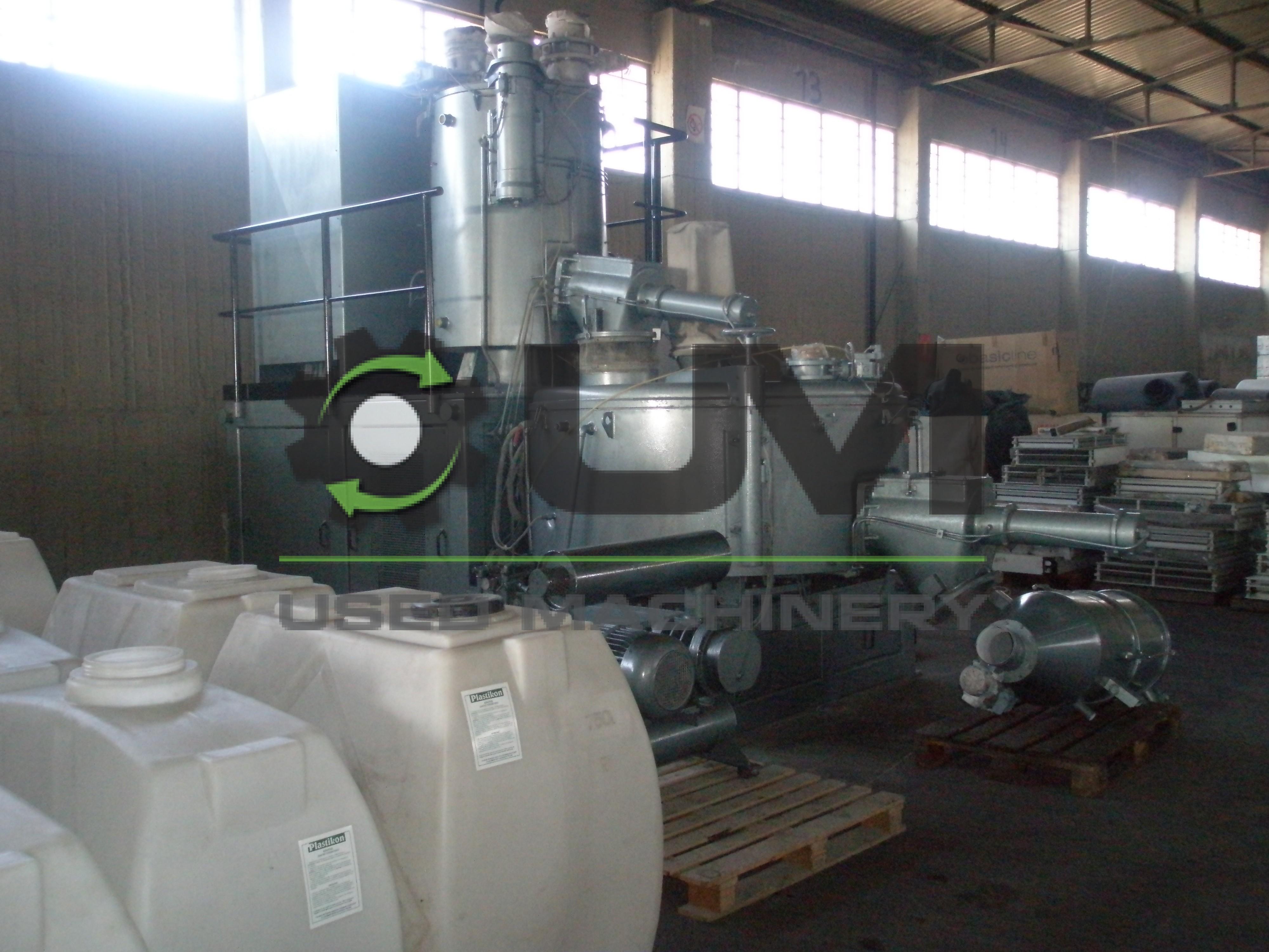 Used Papenmeier PVC Mixer 600Lt - 1200 kg/h