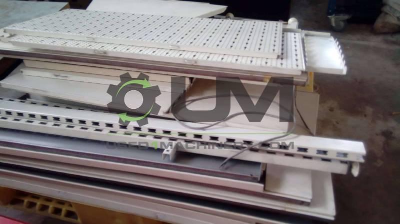 Μεταλλικά Ράφια Αποθήκης ελαφρού τύπου Βογιατζόγλου μεταχειρισμένα λευκά